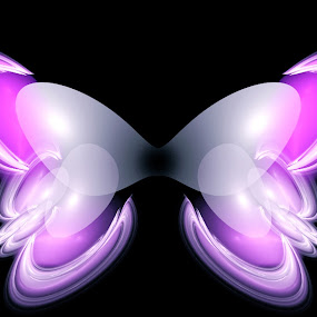 Butterfly by Ilaria Rosa - Illustration Animals ( butterfly, animals, art, pink, digital )