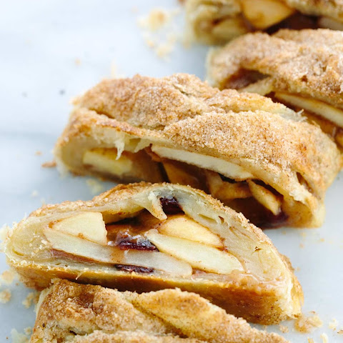 Spiced Cranberry Apple Strudel