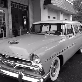 This Old Car by Tammy Pressley - Transportation Automobiles ( history, car, black and white, automobile, antique )