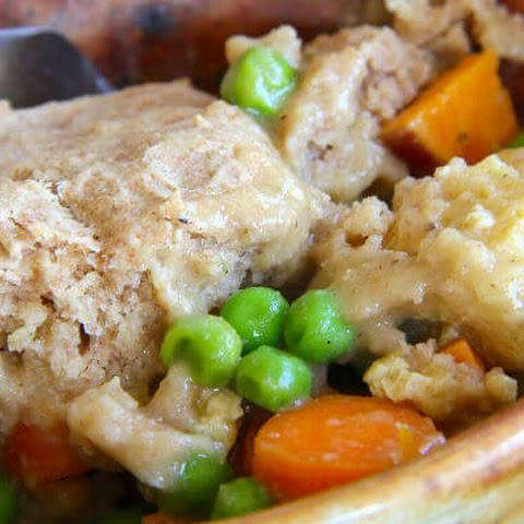 One-Dish Pot Pie with Sprouted Flour Crust