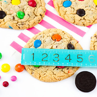 Mega Sized Chocolate Chip M&M Cookies
