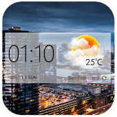 Download Glass Weather Clock Widgets APK to PC