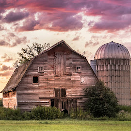 MORNING LIGHT by Dana Johnson - Buildings & Architecture Other Exteriors ( barn, rural, farm, dawn, building, architecture, morning, farmsite )