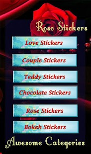 Rose Love Stickers - screenshot