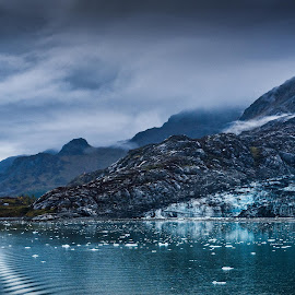 Barren by Garry Dosa - Landscapes Waterscapes ( mountains, isolated, ice, remote, water, blue, outdoors, waterscape, shades of blue, wilderness, autumn, glacier, landscape )