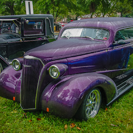 Purple Passion by Myra Brizendine Wilson - Transportation Automobiles ( sports cars, old car, purple, muscle cars, cars, car show, purple car, restored cars,  )
