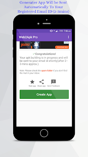 Best App Builder -Web2Apk and Web2App Converter Screenshot