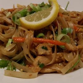 by Rodolfo Dela Cruz - Food & Drink Plated Food ( plated, lemon slice, food, shrimp, noodle )