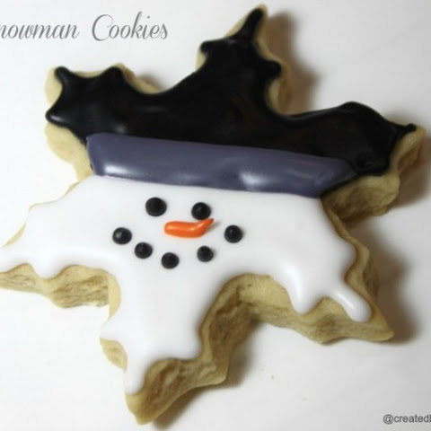 Snowman Snowflakes (Italian Cookie Recipe)