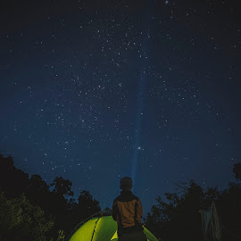 Finding Milky way by Ravuth Um - Landscapes Travel ( #adventure#camping#nightscapr# )