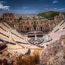 Odeon of Gerodes Atticus by Krasimir Lazarov - Buildings & Architecture Public & Historical ( amphitheatre, greece, acropolis, historical, athens, ancient )