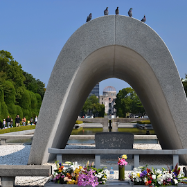 We Remeber. Hiroshima.  by Marcel Cintalan - Buildings & Architecture Statues & Monuments ( nuclear weapon, memento, monument, hiroshima, historic )