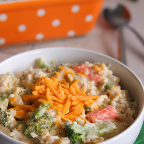 Creamy Chicken, Veggie and Rice Casserole