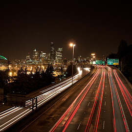Go by Lawrence Darrah - City,  Street & Park  Skylines ( city at night, street at night, park at night, nightlife, night life, nighttime in the city )