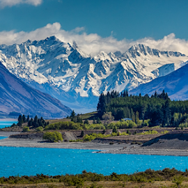 Lake Tekapo, NZ by Gary Beresford - Landscapes Travel ( glacier, blue lake, south island, lake tekapo, new zealand )