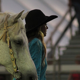 The Horse Whisper by Brian  Shoemaker  - Novices Only Street & Candid ( horse, rodeo, talent, cowgirl )