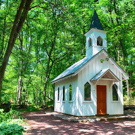Church in the Woods by Chasity Patterson - Buildings & Architecture Places of Worship