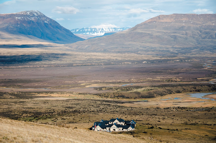 Eolo Lodge in the Patagonian steppe