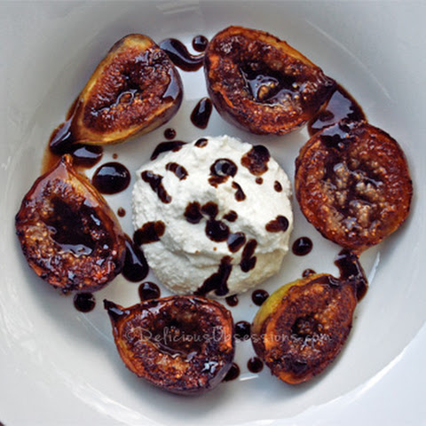 Orange Honey Balsamic Glazed Figs with Ricotta