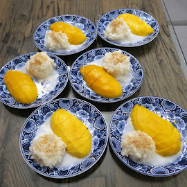 Thai Mango Sticky Rice Dessert for Father's Day Celebration by Dennis Ng - Food & Drink Candy & Dessert