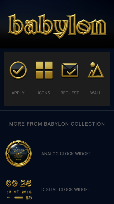 Babylon gold blue ICON PACK Screenshot 1