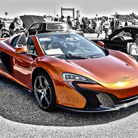Flash of Orange by Holly Dean - Transportation Automobiles ( orange, sports car, mclaren, fast, exotic,  )