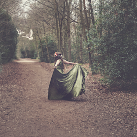 Charmed by Becky Wheller - Digital Art People ( fantasy, girl, fineart, ethereal, forest )