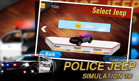 Police Jeep Simulation 3D - screenshot