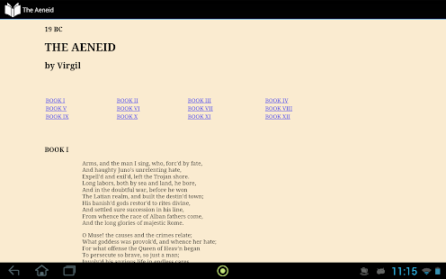 Virgil's Aeneid in English - screenshot