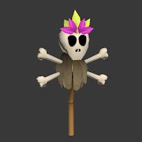 skull on stick