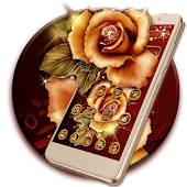 App Golden Red Luxury Rose Theme APK for Windows Phone