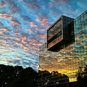 Sunset At Harbourfront  by Joseph Goh Meng Huat - Instagram & Mobile iPhone ( building, harbourfront, sunset, iphone, singapore )