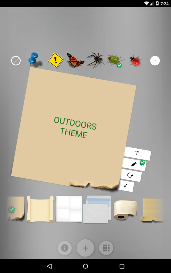 Sticky Notes Theme Outdoors Screenshot 2