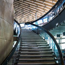 Ještěd - into the restaurant by Petr Germanič - Buildings & Architecture Other Interior ( liberec, ještěd, restaurant )