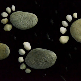 stones footprint II by Elvis Hendri - Artistic Objects Other Objects ( think, nature, stone, artistic object, black )