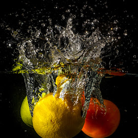My Trio Fruits Splash by Eeezam Mon - Food & Drink Fruits & Vegetables