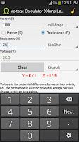 Screenshot of Ohms Law Calculator