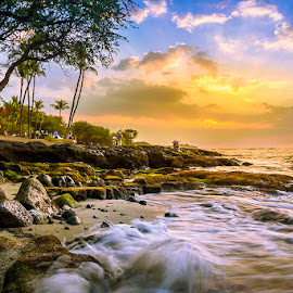 Waikoloa Beach by Sagarika Roy - Landscapes Beaches ( nature, waikoloa, waterscape, ocean, seascape, beach, hawaii, natural beauty, golden hour,  )