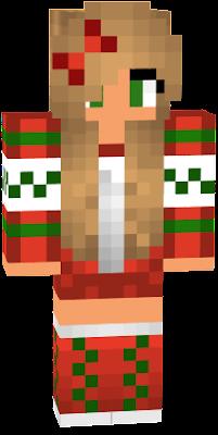 minecraft christmas skin