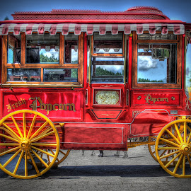 Antique Popcorn Wagon by Eric Demattos - Artistic Objects Antiques ( popcorn, eric demattos, wagon )