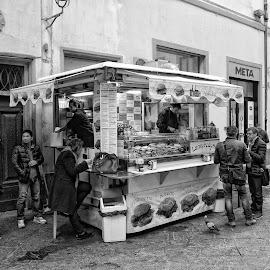 Street Vendor by Keith Sutherland - City,  Street & Park  Markets & Shops ( florentine, street vendor, food, food kiosk )