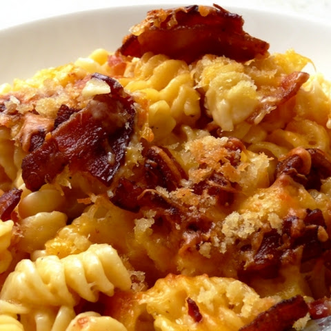 Quadruple Cheese Macaroni with Smokey Bacon