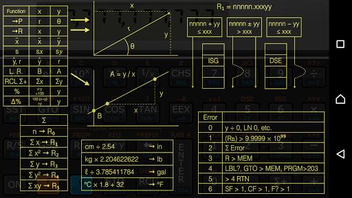 Andro11C calculator - screenshot