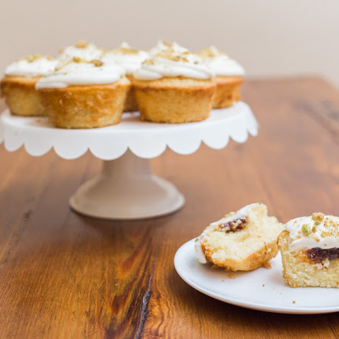 Honey Fig Cupcakes + Goat Cheese Frosting