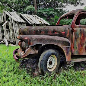 Deterioration  by Allen Crenshaw - Digital Art Places ( rust, deterioration, digital arts, iphone, painting, photography )