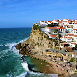 Azenhas do Mar by Cristina Nunes - City,  Street & Park  Vistas (  )