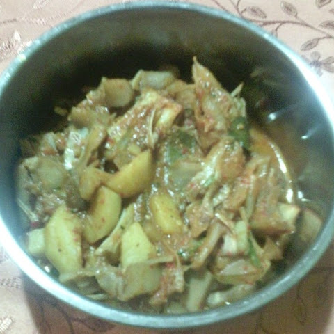 Homemade Raw Jackfruit Cooked In Spices