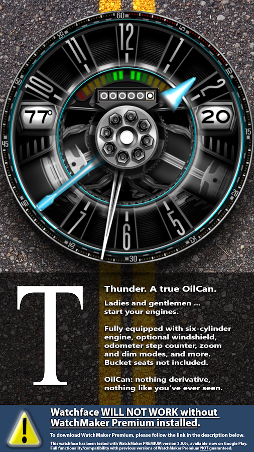 OilCanX2-Thunder watchface Screenshot 3