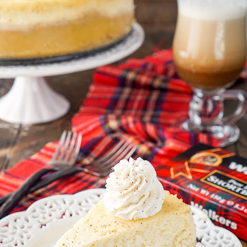Eggnog Cheesecake with a Shortbread Crust