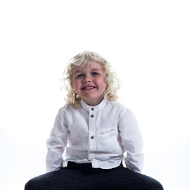 Birkir on a box by Gunnar Sigurjónsson - Babies & Children Children Candids